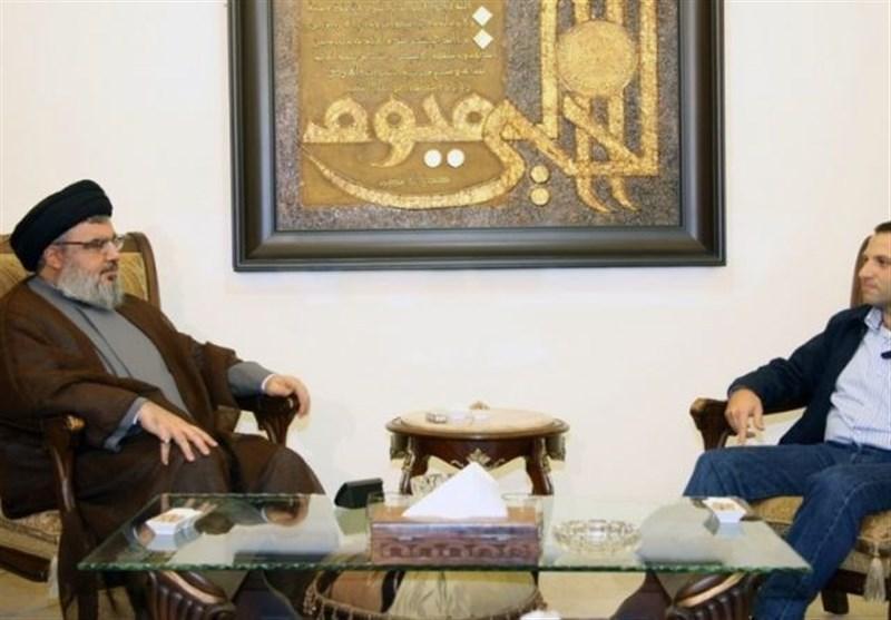 دیدار وزیر خارجه لبنان با سید حسن نصرالله