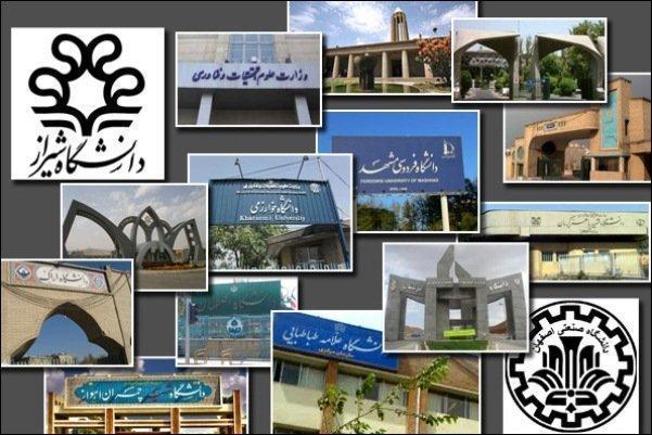 دانشگاه های در تراز بین المللی معرفی شدند، دانشگاه شریف در صدر