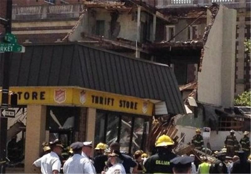 6 کشته در اثر ریزش ساختمان در فیلادلفیا