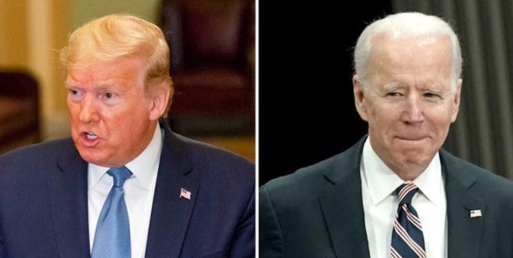 نظرسنجی، پیشتازی 9 درصدی بایدن در برابر ترامپ
