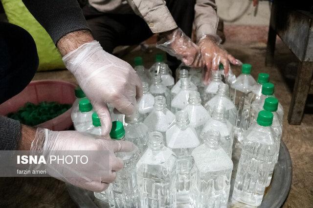 کشف 57 هزار لیتر موادضدعفونی احتکار شده در هرسین