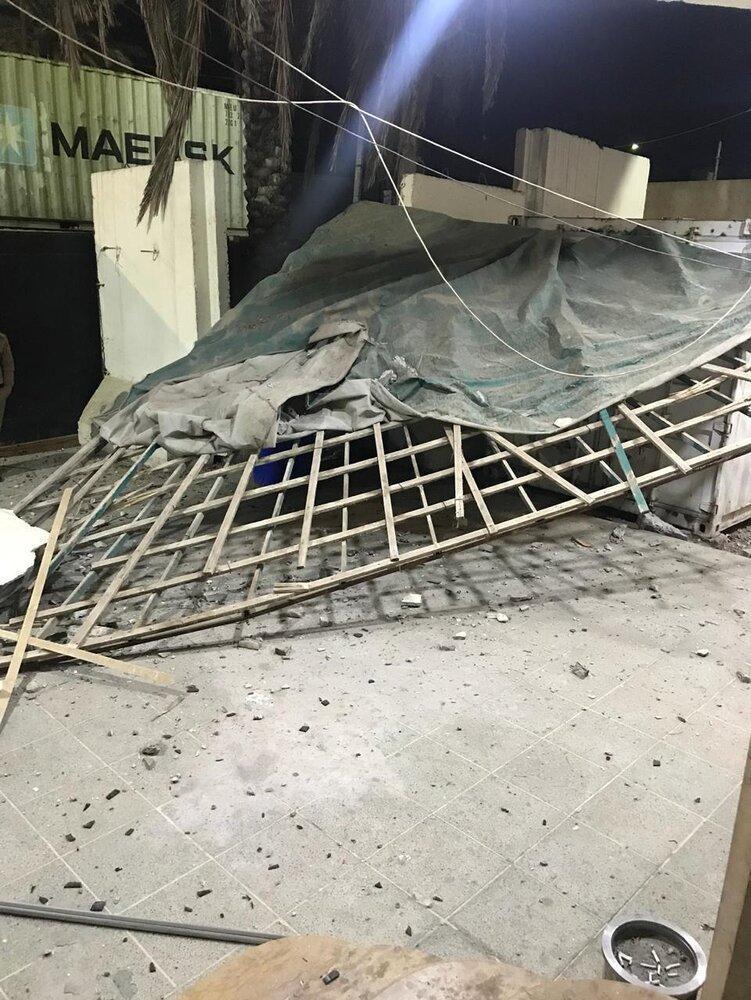 حملات راکتی به یک شرکت امنیتی انگلیسی در بغداد، عکس