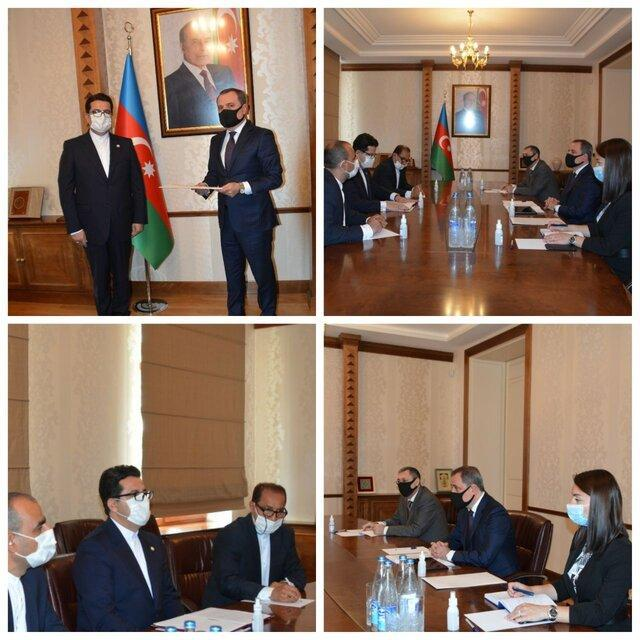 موسوی رونوشت استوارنامه خود را تقدیم وزیر خارجه آذربایجان کرد