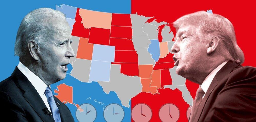 تازه ترین نظرسنجی انتخابات آمریکا؛بایدن همچنان پیشتاز است