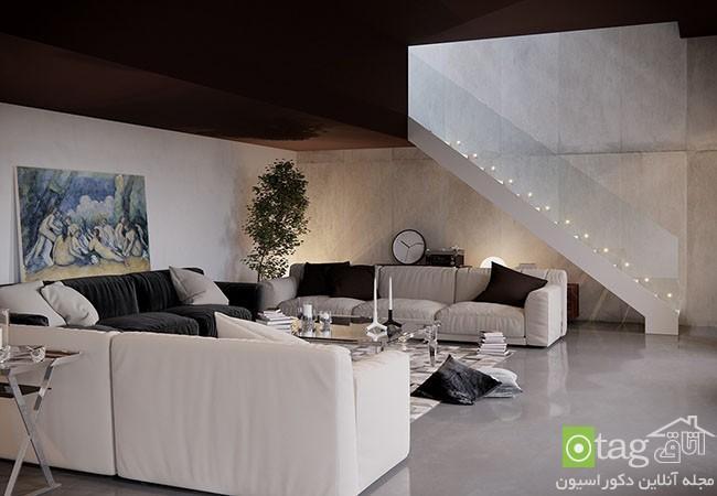 اتاق نشیمن ساده و شیک با طراحی مدرن مطابق با مد روز