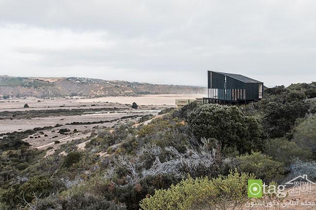 طراحی ساده خانه ویلایی در جزیره ای متروک با منظره ای بی نظیر