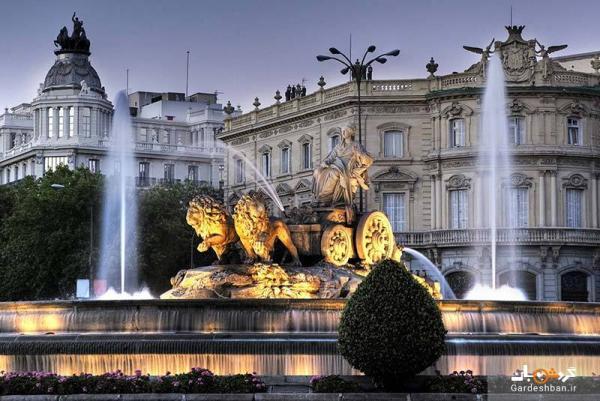 میدان سیبلس و ساختمان حیرت انگیز شهرداری در مادرید