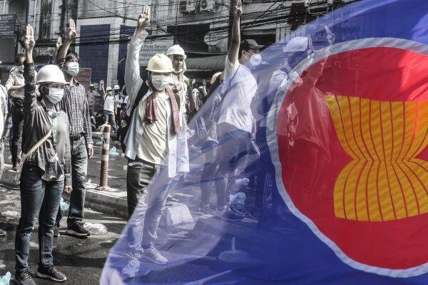 سران آ سه آن با سرکرده کودتای میانمار ملاقات می نمایند